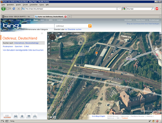 Checken 3.0 mit Bing Maps
