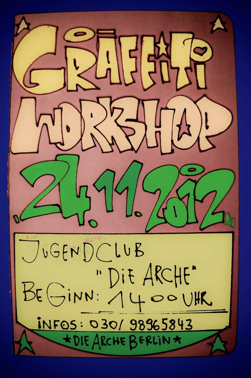 Arche Graffiti Workshop - November 2012