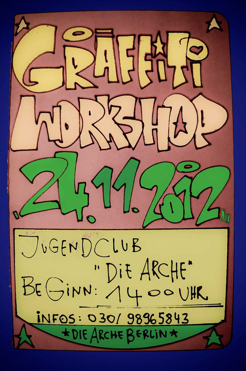 Arche Graffiti Workshop – November 2012