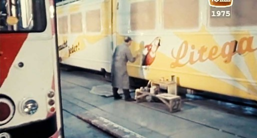 Wien: Werbung auf der Schiene 1975