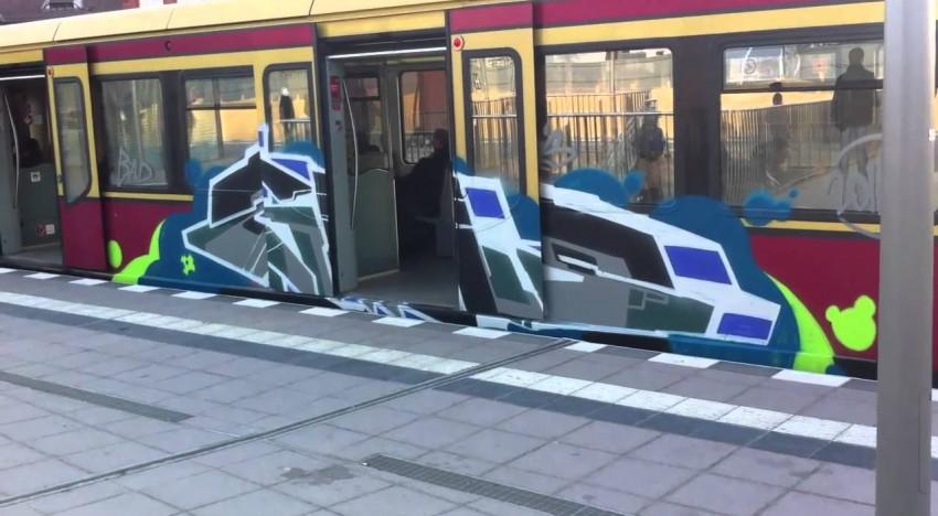 Inforadio: Graffitis bei der Bahn