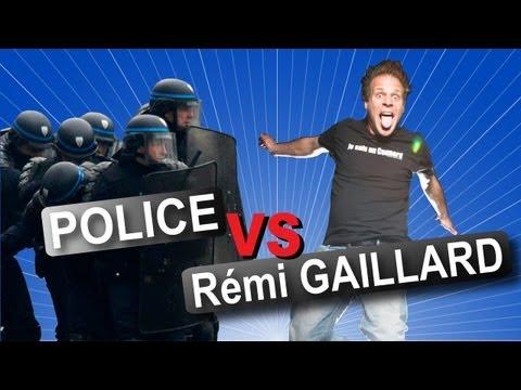 Rémi Gaillard vs. Police