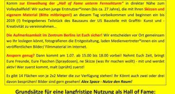 Eröffnung: Alexanderplatz Hall of Fame