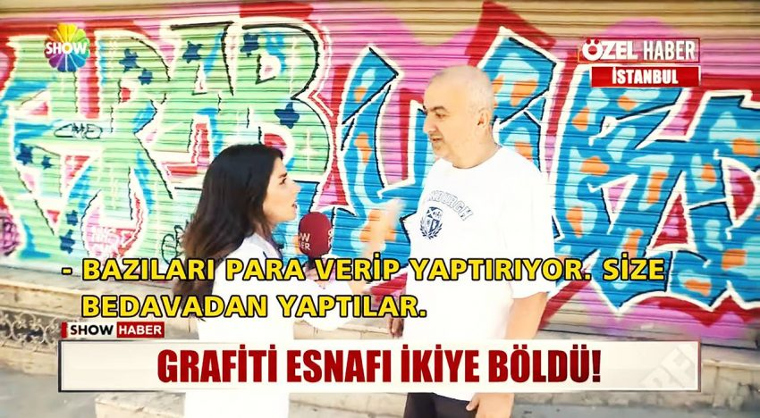 Istanbul: Graffiti Bayram TV-Bericht