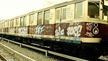 Berliner Verkehrs-Magazin: Vandalismus und Graffiti 1990