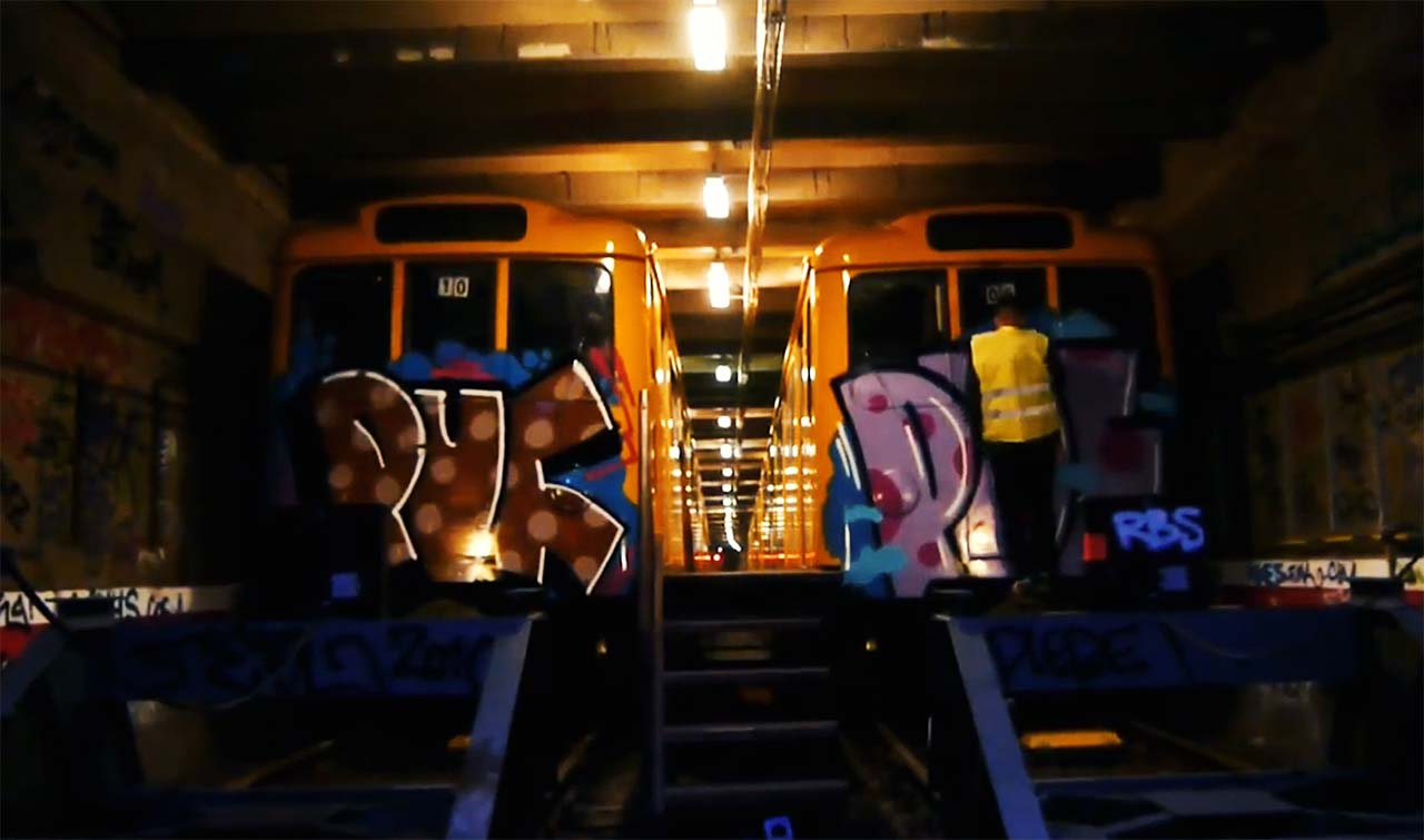 U-Bahn: PUF Crew in Berlin 2014   BERLIN GRAFFITI